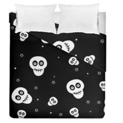 Skull Pattern Duvet Cover Double Side (queen Size)