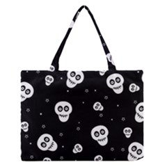 Skull Pattern Medium Zipper Tote Bag by BangZart