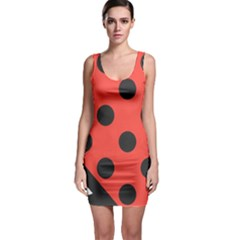 Abstract Bug Cubism Flat Insect Bodycon Dress