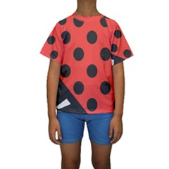Abstract Bug Cubism Flat Insect Kids  Short Sleeve Swimwear by BangZart