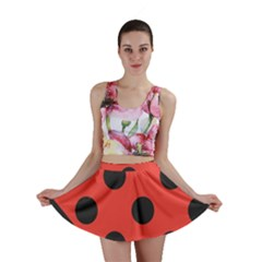 Abstract Bug Cubism Flat Insect Mini Skirt