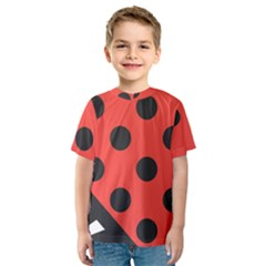 Abstract Bug Cubism Flat Insect Kids  Sport Mesh Tee