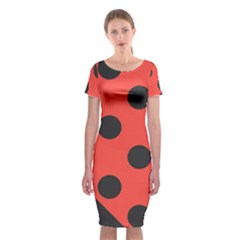 Abstract Bug Cubism Flat Insect Classic Short Sleeve Midi Dress