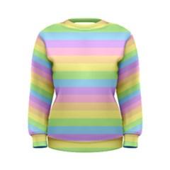 Cute Pastel Rainbow Stripes Women s Sweatshirt
