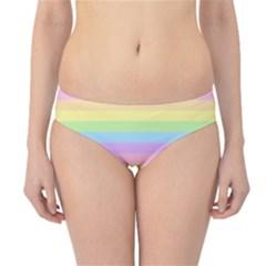 Cute Pastel Rainbow Stripes Hipster Bikini Bottoms