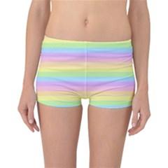 Cute Pastel Rainbow Stripes Reversible Boyleg Bikini Bottoms