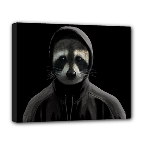Gangsta Raccoon  Deluxe Canvas 20  X 16   by Valentinaart