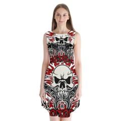 Acab Tribal Sleeveless Chiffon Dress