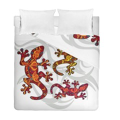 Ornate Lizards Duvet Cover Double Side (full/ Double Size) by Valentinaart