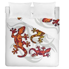 Ornate Lizards Duvet Cover Double Side (queen Size) by Valentinaart