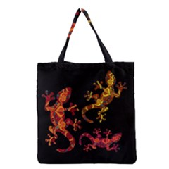 Ornate Lizards Grocery Tote Bag by Valentinaart
