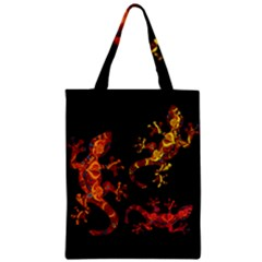 Ornate Lizards Zipper Classic Tote Bag by Valentinaart