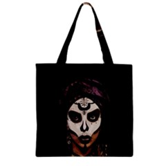 Voodoo  Witch  Zipper Grocery Tote Bag by Valentinaart