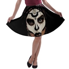 Voodoo  Witch  A Line Skater Skirt