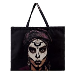 Voodoo  Witch  Zipper Large Tote Bag by Valentinaart