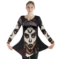 Voodoo  Witch  Long Sleeve Tunic  by Valentinaart
