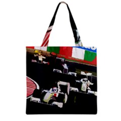 Formula 1 Grocery Tote Bag by Valentinaart