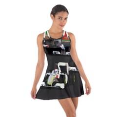 Formula 1 Cotton Racerback Dress by Valentinaart
