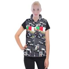 Formula 1 Women s Button Up Puffer Vest by Valentinaart