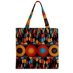 Colorful Geometric Composition Zipper Grocery Tote Bag by linceazul