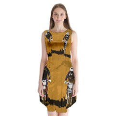 Motorsport  Sleeveless Chiffon Dress