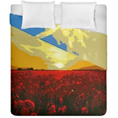 Poppy Field Duvet Cover Double Side (california King Size) by Valentinaart