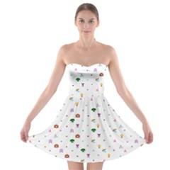 Where Dreams Strapless Bra Top Dress by mundanemagicco