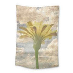 Shabby Chic Style Flower Over Blue Sky Photo  Small Tapestry by dflcprints