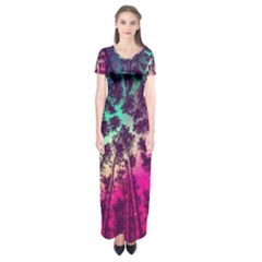 Just A Stargazer Short Sleeve Maxi Dress by augustinet