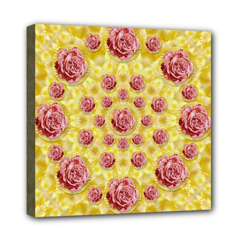 Roses And Fantasy Roses Mini Canvas 8  X 8  by pepitasart