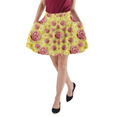 Roses And Fantasy Roses A Line Pocket Skirt by pepitasart