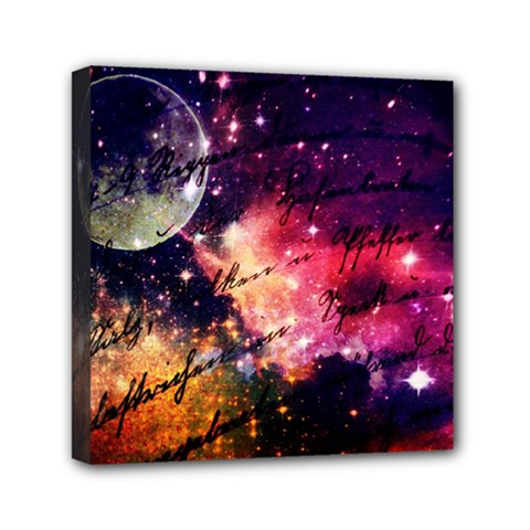 Letter From Outer Space Mini Canvas 6  X 6  by augustinet