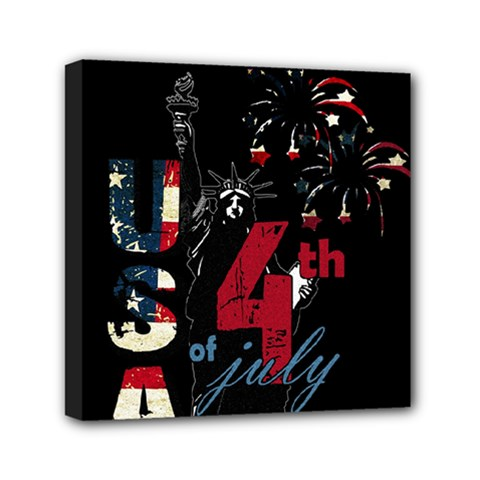 4th Of July Independence Day Mini Canvas 6  X 6  by Valentinaart