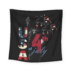 4th Of July Independence Day Square Tapestry (small) by Valentinaart