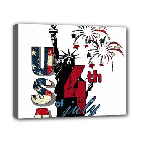 4th Of July Independence Day Canvas 10  X 8  by Valentinaart