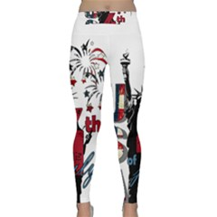 4th Of July Independence Day Classic Yoga Leggings by Valentinaart