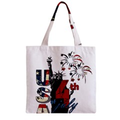 4th Of July Independence Day Zipper Grocery Tote Bag by Valentinaart