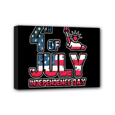 4th Of July Independence Day Mini Canvas 7  X 5  by Valentinaart
