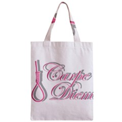 Carpe Diem  Zipper Classic Tote Bag by Valentinaart