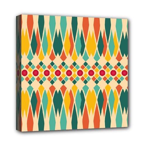 Festive Pattern Mini Canvas 8  X 8  by linceazul