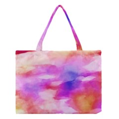 Colorful Abstract Pink And Purple Pattern Medium Tote Bag by paulaoliveiradesign