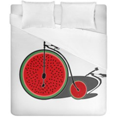 Watermelon Bicycle  Duvet Cover Double Side (california King Size)