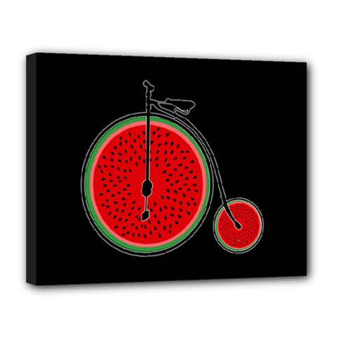 Watermelon Bicycle  Canvas 14  X 11  by Valentinaart
