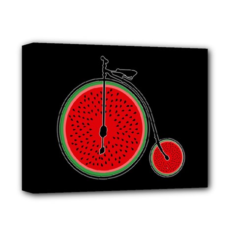 Watermelon Bicycle  Deluxe Canvas 14  X 11  by Valentinaart