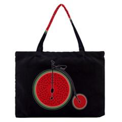Watermelon Bicycle  Medium Zipper Tote Bag by Valentinaart