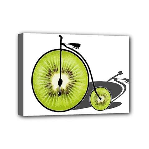 Kiwi Bicycle  Mini Canvas 7  X 5  by Valentinaart