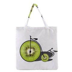 Kiwi Bicycle  Grocery Tote Bag by Valentinaart