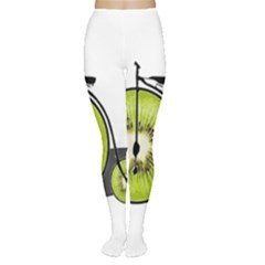 Kiwi Bicycle  Women s Tights by Valentinaart