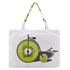 Kiwi Bicycle  Medium Zipper Tote Bag by Valentinaart