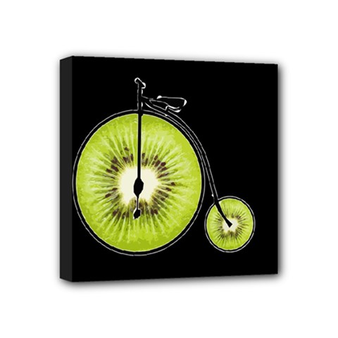 Kiwi Bicycle  Mini Canvas 4  X 4  by Valentinaart